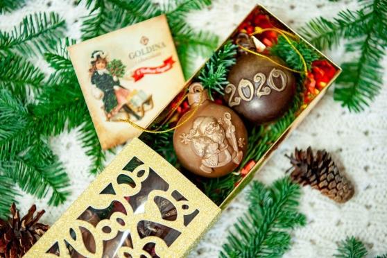 Шоколадные шары на елку