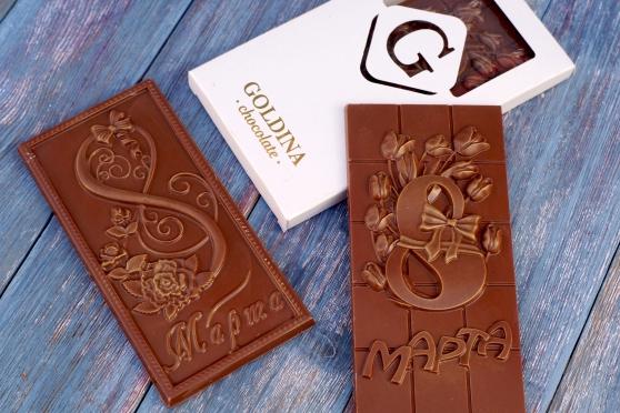 """Шоколадная плитка """"8 марта"""""""